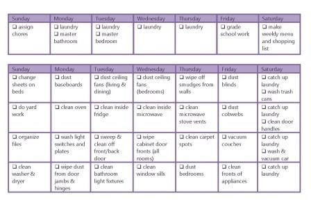 Weekly And Monthly Chore Chart  Homeschool Made Simple